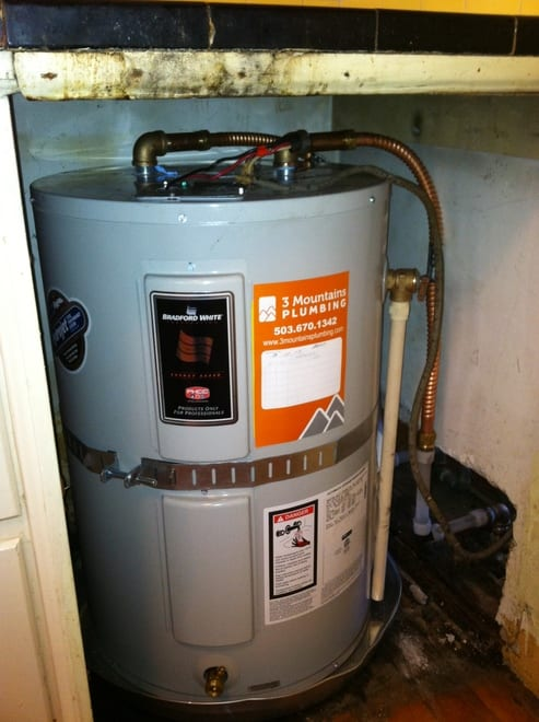 water heater installation in Portland