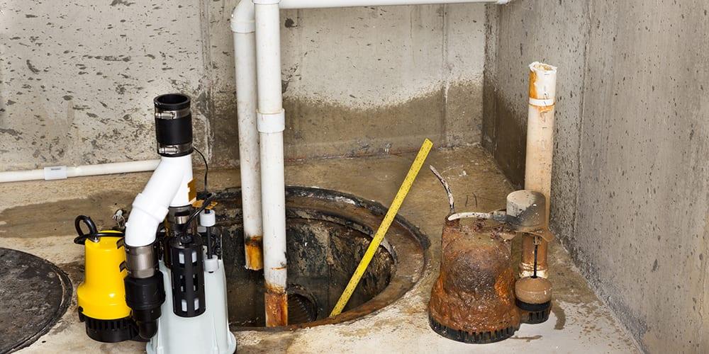 Sump pump installation in Portland